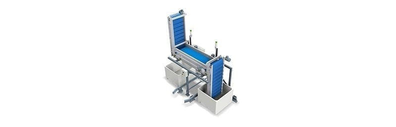 Wyma's Vertical Bin and Bag Filler offers automated, gentle produce handling